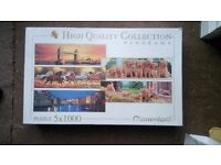 Panorama high quality collection 5 x 1000 piece puzzles