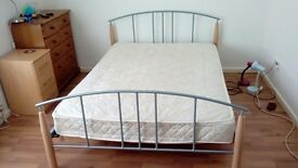 double bed with mattress asap
