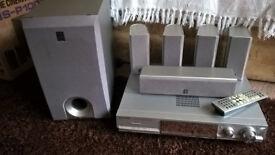 Panasonic surround sound receiver and yamaha home cinema speakers
