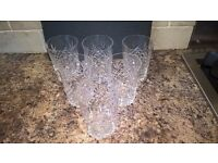 Crystal Glass Tumblers X6