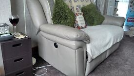 leather 2 seater electric recliner sofa