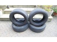 Four used 235/60 R18 tyres for sale. Happy to split and sell separately, or as a pair, or as a set