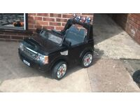 Battery powered Range Rover with Parents remote control