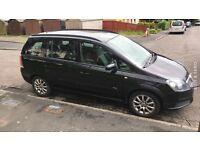Vauxhall Zafira. 55 plate. 7 seater