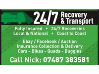 24/7 recovery & transport 07487383581