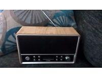 Logik wood effect DAB radio