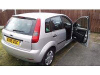 A Ford Fiesta Zetec for sale.