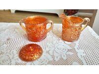 Orange Glass Jugs