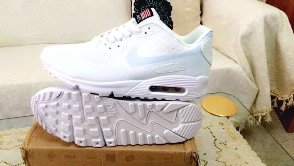 1f86357b8fb ... denmark nike air max 90 hyperfuse white independance day all sizes inc  delivery paypal xx in