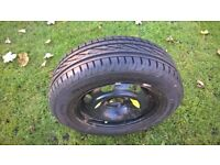tyre on wheel new condition size 195/65r 15 never been on the road