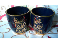 gold painted chinese cups