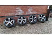 "Volkswagen VW GOLF R MK7 GTD 18"" Cadiz Alloy Wheels Borbet 5G0601025bk 5x112"