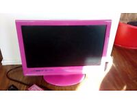 Pink 16 inch Freeview TV