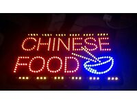 Chinese Takeaway LED shop sign