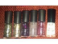 No.7 nail varnishes £5 for all