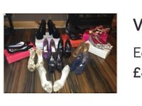 Various woman's shoes.
