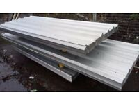 ROOFING SHEETS METER COVER BOX CORRUGATED ALUMINIUM PVC 6 7 8 9 10 11 12 13 14 ft FREE DELIVERY !
