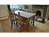 Pine Table and 4 Chairs for sale