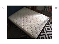 Double Bed Mattress For Sale. Lumber support, hypo allergenic, foam support, air pockets, sprung.