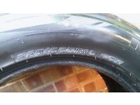 2x part worn tyres size 225/55zr16 95w was on Mercedes benz e-class