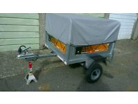 Erde 102 Trailer with high expectation kit