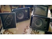 """P.A Speakers bands Public Address MONITORS Djs 12"""" x 2 with Horns 200w"""