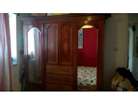 Mahogany wardrobe, circa late 19th Century - free local delivery - N17/Tottenham/Haringey
