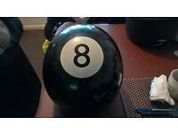 Retro 8 Ball Motorbike Helmet - Open face