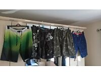 2 x Boardshorts and 2 x Casual Shorts