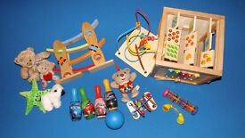 Variety of Early Learning Centre and VTech baby and toddler toys.