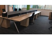 LARGE OFFICE CLEARANCE- 100 -SENATOR CORE WORKSTATIONS -PEDESTALS + STORAGE-VGC ( READ AD PLS )