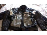 Spyke Leather Motorbike Jacket