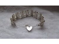 sterling silver gate bracelet,