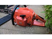 HUSQVARNA TOP PROFESIONAL CHAINSAW WITH LOADS OF POWER WITH 54cc ENGINE STARTS AND RUNS PERFECT +VGC