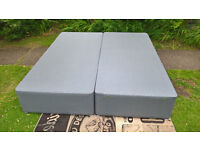 Ex-display Myers Grey Super King Size Divan Bed Base with Storage.