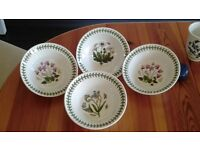 Portmarion Botanic Garden bowls 16 cm x4 perfect condition