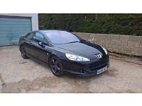 "Peugeot 407 Coupe BELLAGIO Sport BLACK 2.0 HDI 110000 MILES NAVI 18"" WHEELS SWAP"