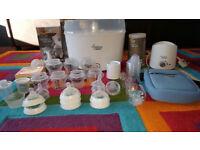 Tommee tippee electric steriliser, bottles, bottle warmer etc. 50x items