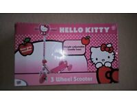 Hello Kitty 3 wheel scooter. Brand New