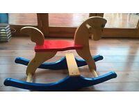 Wooden rocking horse