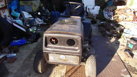 RIDE ON TRACTOR LAWN MOWER TWIN CYLINDER RUNS DRIVES OK ELECTRIC START NEEDS A LITTLE T L C