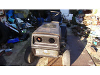 FIAT RIDE ON TRACTOR LAWN MOWER TWIN CYLINDER RUNS ELECTRIC START NEEDS A LITTLE T L C