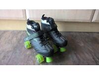 Black roller skates size 7