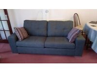 Sofa - large two person - grey - as good as new - price reduced ***final time*** for quick sale