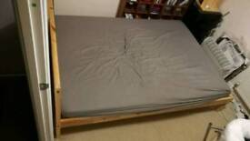 Ikea Fjellse/Malfors double bed & sprung mattress
