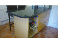MOBEN KITCHEN UNITS AND SOME WORKTOP INCLUDING AN ISLAND NO APPLIANCES ARE INCLUDED ONLY UNITS