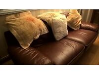 3 piece leather suite 3+2+1. Very comfortable, full leather, backs also leather.