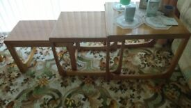 Nest of Three Teak Tables for the Lounge