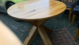 Solid Oak round table and 4 chairs, Next, collect MK