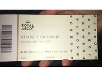 Ascot Ticket, This Saturday, 24.06.17 Windsor Section,